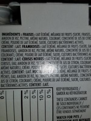 Original balkan yogourt - Ingredients