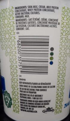 Halal Yogurt - Informations nutritionnelles - fr