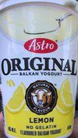 Original Balkan Yogourt Lemon - Produit - fr