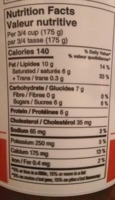 Original Balkan yogurt - Nutrition facts - en