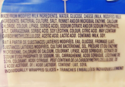 Cheddar Slices - Ingredients - en