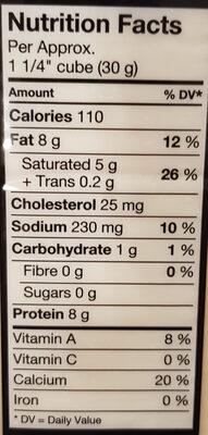 Mozzarella - Nutrition facts - en