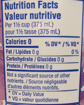 Sparkling triple berry - Informations nutritionnelles - fr