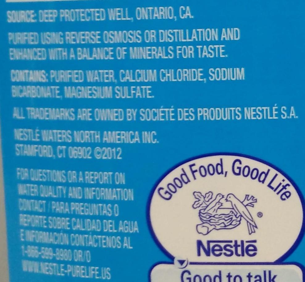 Pure Life - Nestlé - 1 GAL (3 79 L)