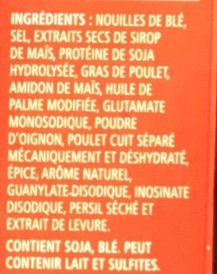 Soupe Poulet et nouilles - Ingrédients