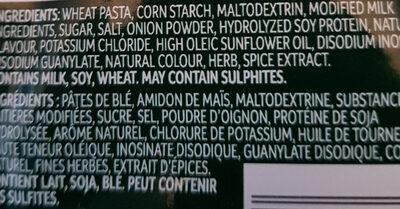 SIDEKICKS pâtes beurre et fines herbes - Ingredients - en