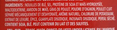 Poulet & Nouilles Légère - Ingredients