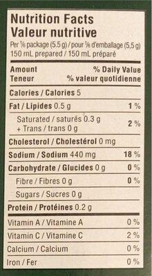 Bouillin style maison - Nutrition facts - en