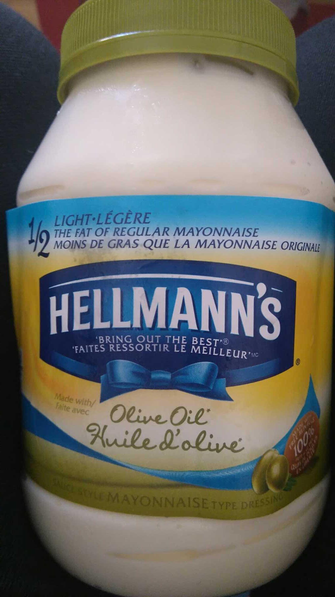 Olive oil mayonnaise type dressing - Product - en