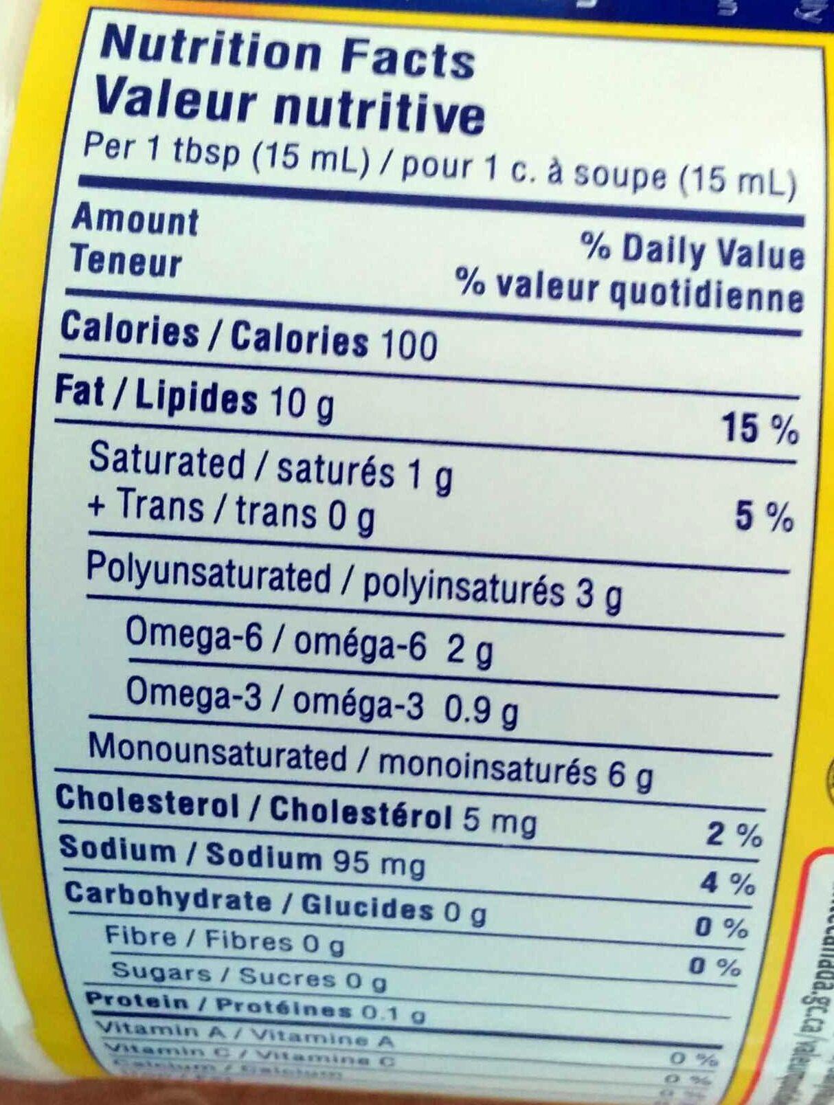 Mayonnaise hellsmann's - Informations nutritionnelles - en
