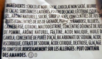 Brookside - Acai&blueberry dark chocolate - Ingrédients - fr