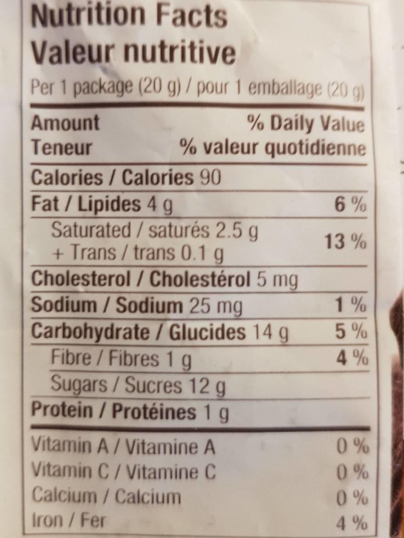 Brookside - Acai&blueberry dark chocolate - Informations nutritionnelles - fr