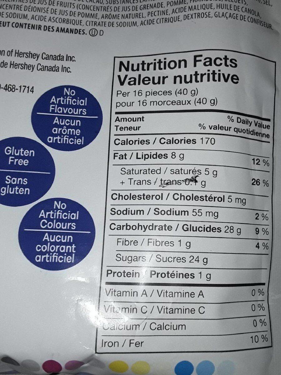 Arômes d'açaïs et de bleuet - Valori nutrizionali - fr
