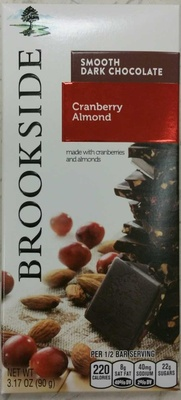 Cranberry Almond Smooth Dark Chocolate - Product - en