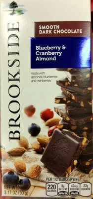 Smooth Dark Chocolate Made With  Almonds, Blueberries & Cranberries - Product - en
