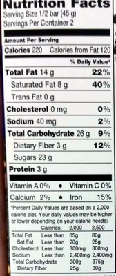 Smooth Dark Chocolate Made With  Almonds, Blueberries & Cranberries - Nutrition facts - en