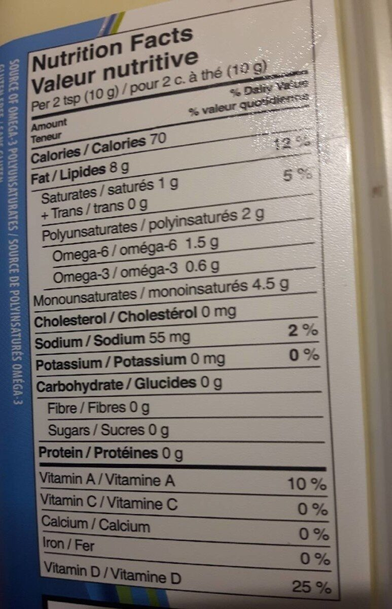 Margarine - Nutrition facts - fr