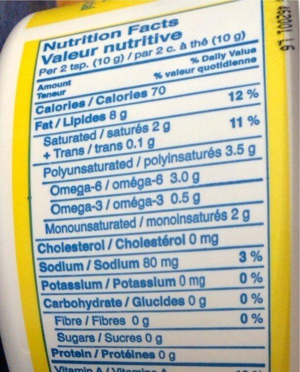 Margarine - Voedingswaarden - fr