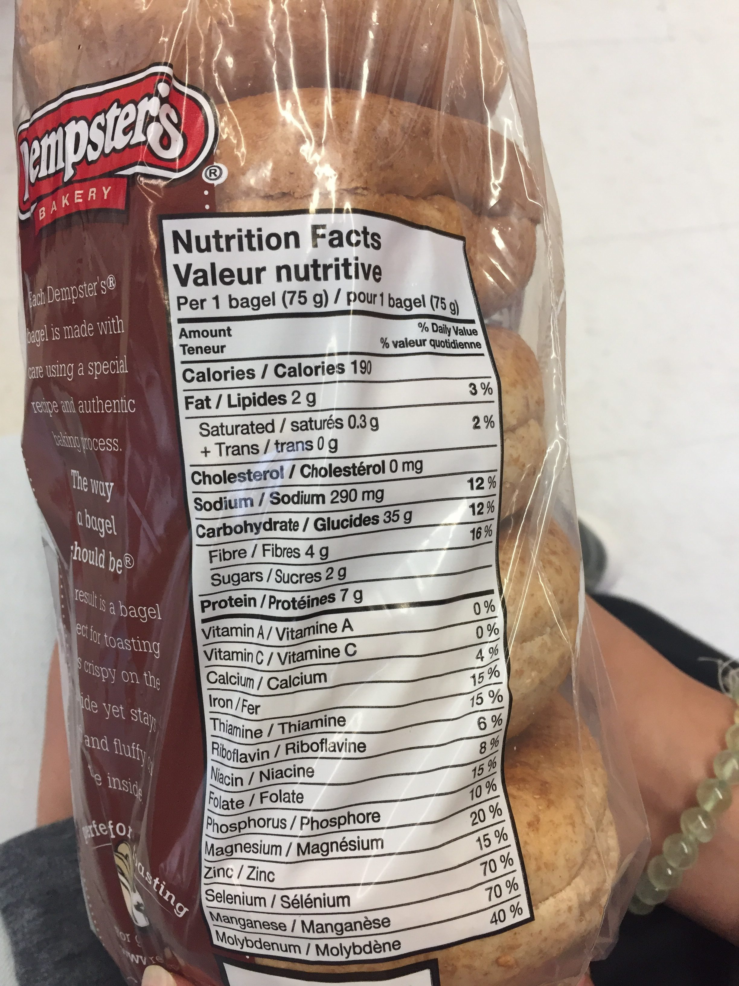 Bagel Thins Nutrition Label | Besto Blog |Whole Wheat Bagel Nutrition Facts
