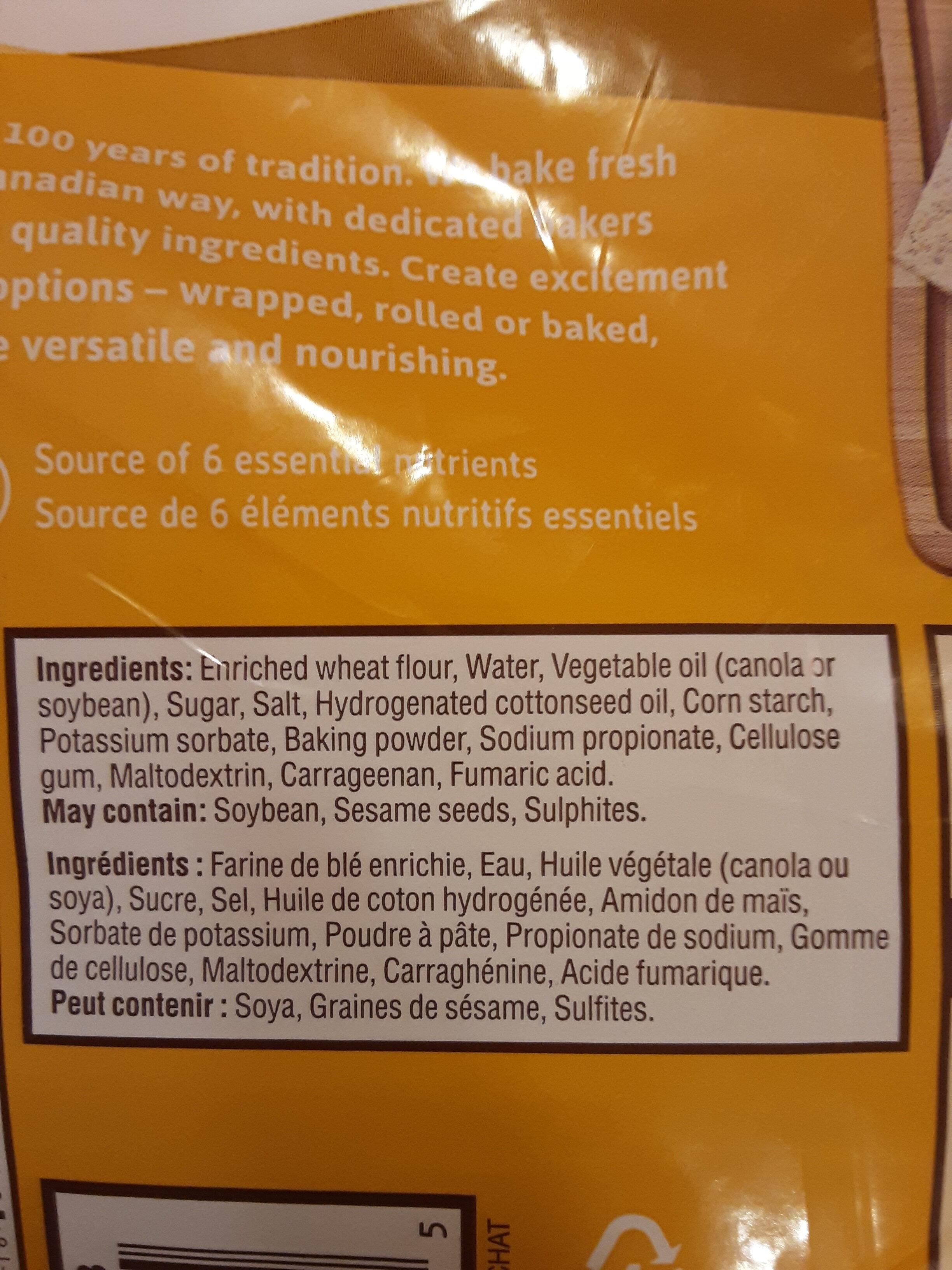 Original Tortillas - Ingredients - en