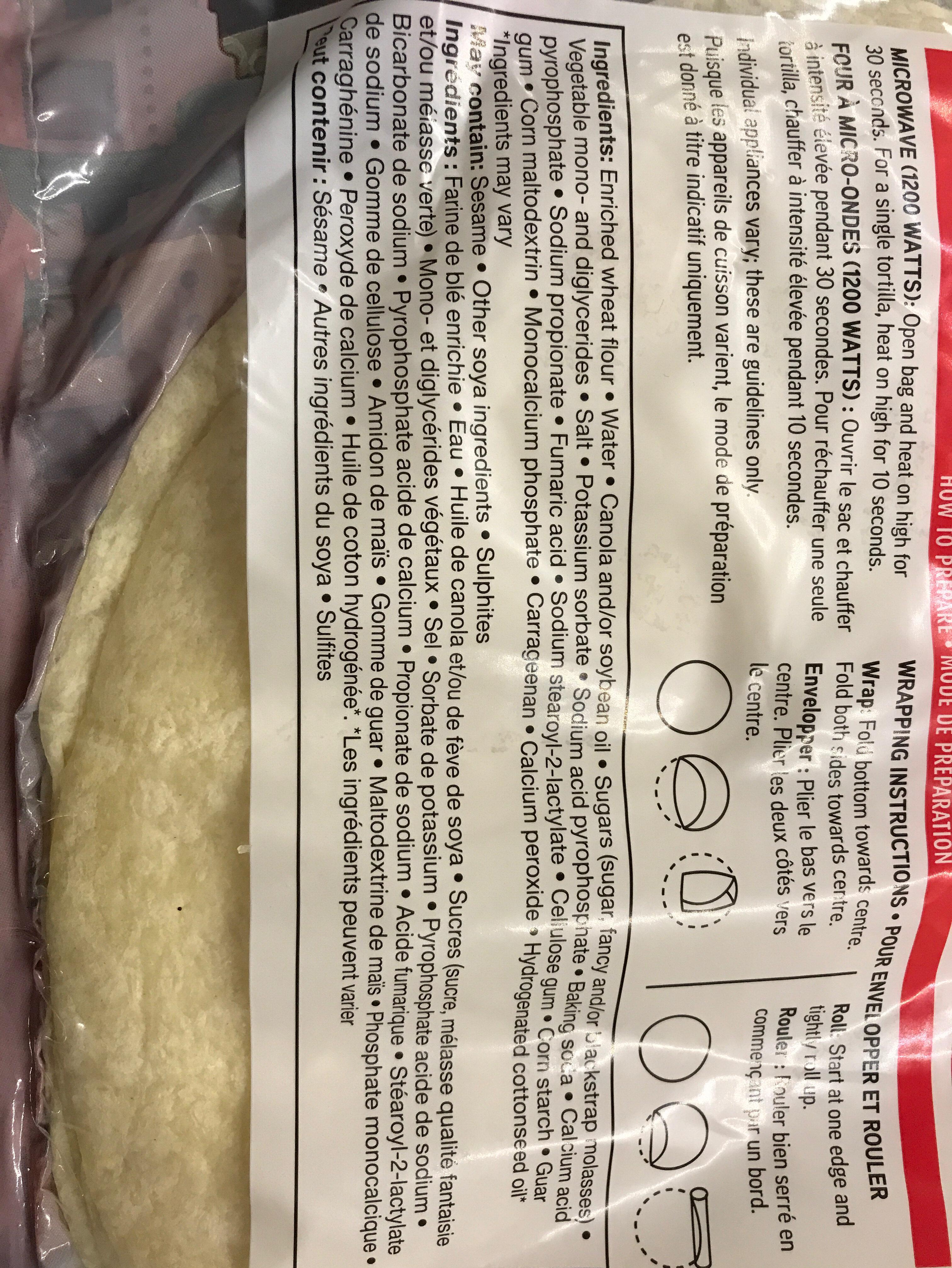 Original tortillas - Ingrédients - fr