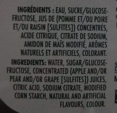 Orange maison jus de raisin - Ingredients - fr