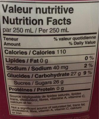 Orange maison jus de raisin - Nutrition facts - fr