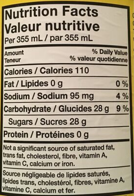 Brisk Limonade 1L - Nutrition facts