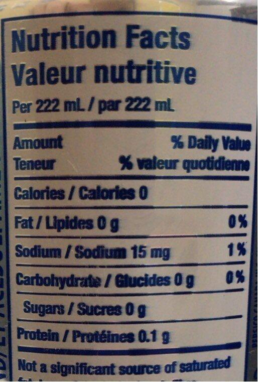 Pepsi diet - Nutrition facts - en