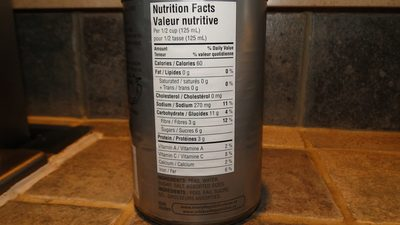 Pois tendres - Nutrition facts - fr