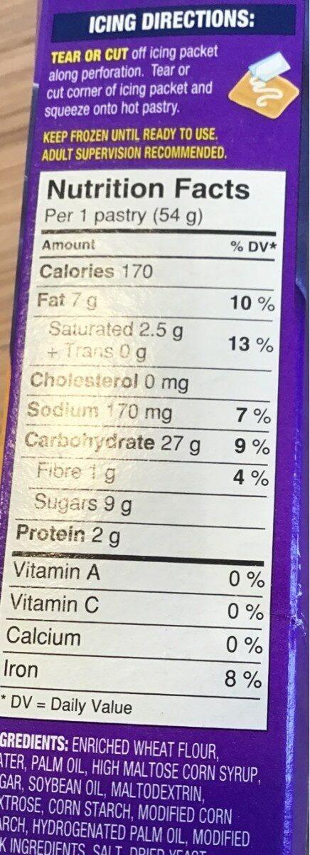 Strudel - Nutrition facts - fr