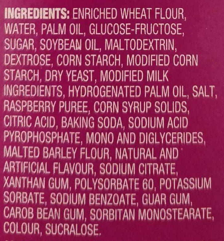 Toaster Strudel framboises - Ingredients
