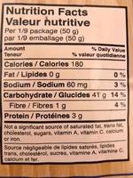 Vermicelle de riz - Informations nutritionnelles