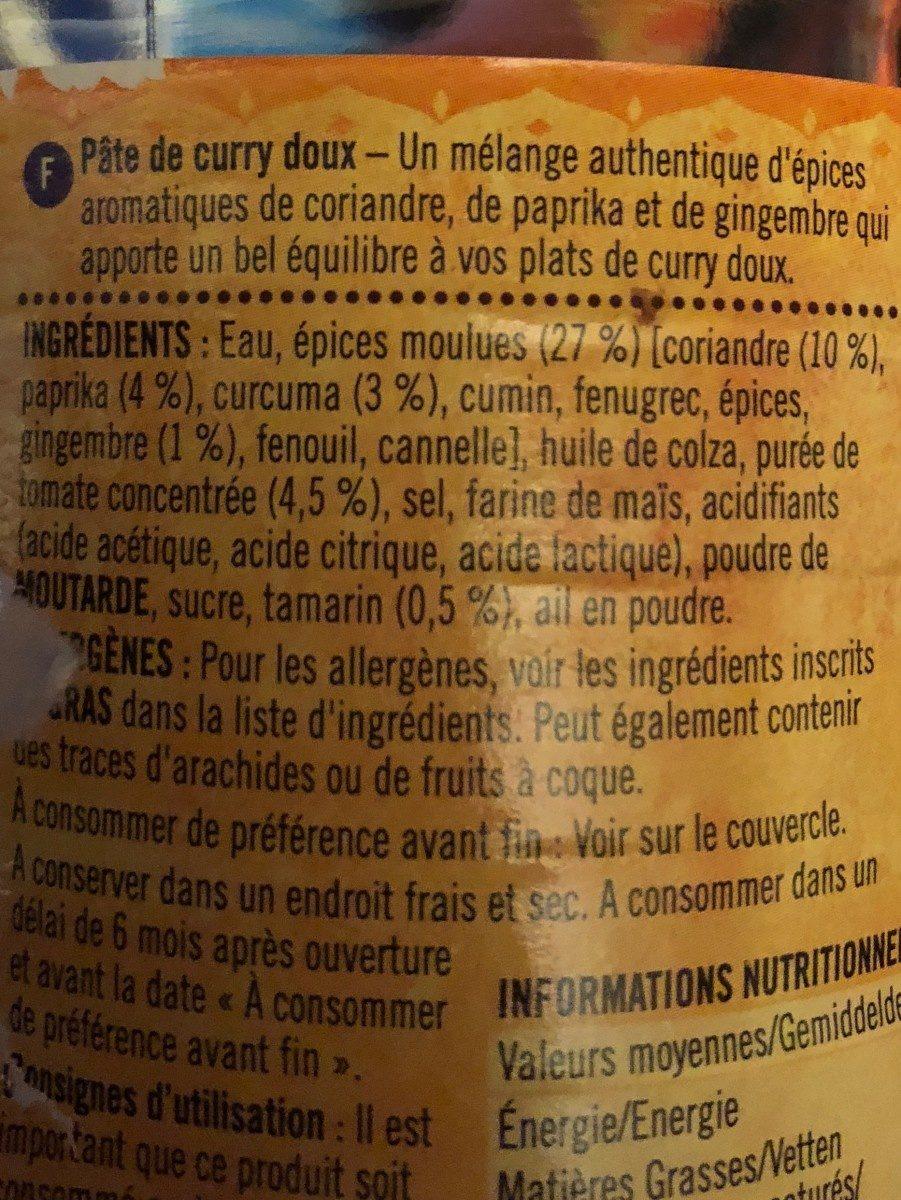 Mild Curry - Ingredients