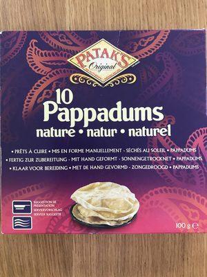 10 Pappadums Nature Pataks 100G 0 - Produit