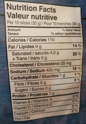 Original pepperoni - Informations nutritionnelles - fr