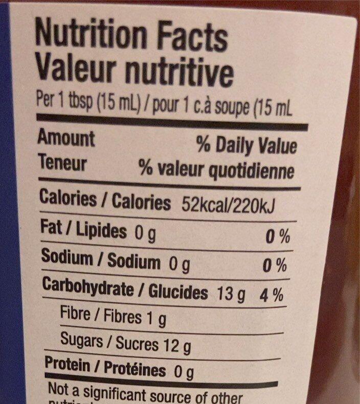 Confiture fraise - Nutrition facts - fr