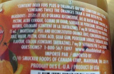 Confiture d'oranges - Ingrédients - fr