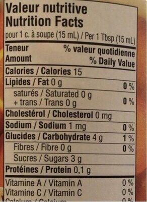 Confiture d'oranges - Informations nutritionnelles - fr