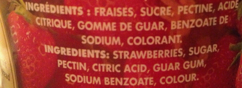 Strawberry regular - Ingrediënten