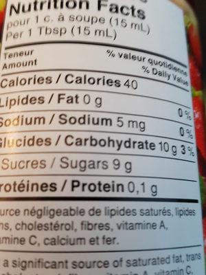 Strawberry regular - Voedigswaarden