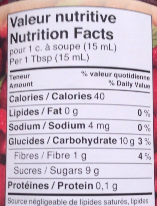 Double fruit - Nutrition facts - fr