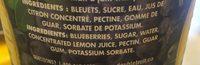 Tartinade de fruits légère aux bleuets - Ingrédients - fr