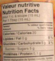 Confiture Ultra-légère (abricots) - Informations nutritionnelles - fr