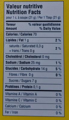 Tartinade (caramel) - Ingredients - fr