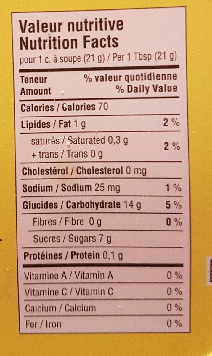 Tartinade (caramel) - Nutrition facts - fr