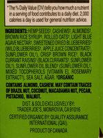 Hemp seed bars - Ingredients