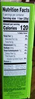 Hemp seed bars - Nutrition facts