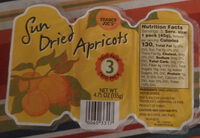 Sun dried apricots - Product