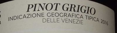 Pinot Grigio Delle Venezie - Ingredients